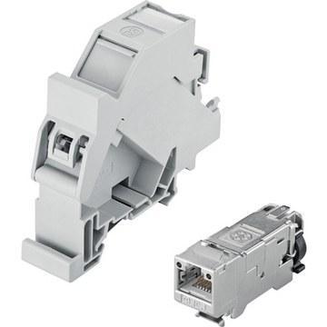 EPIC® DATA HS RJ45F Cat.6A Переходник для монтажной шины с муфтой RJ45