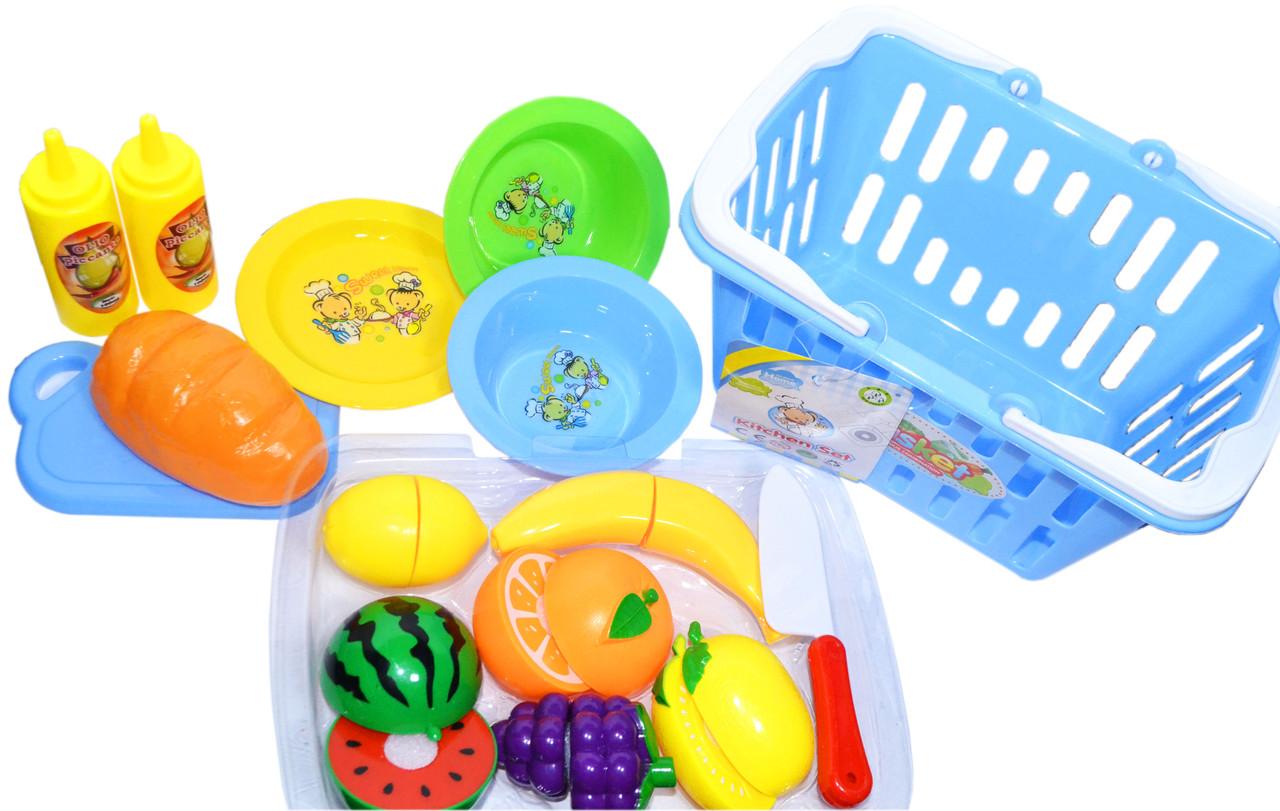 NF594-51 Корзина с фруктами и продуктами (можно резать) Kitchen set Basket 21*25см