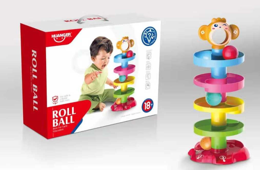 "HE0205 ""Roll Ball"" Веселая горка обезьянки 29*23см"