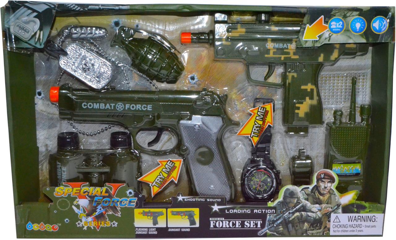 """33900 Военный набор 8 аксесс. """"Special force"""" 39*24см"""