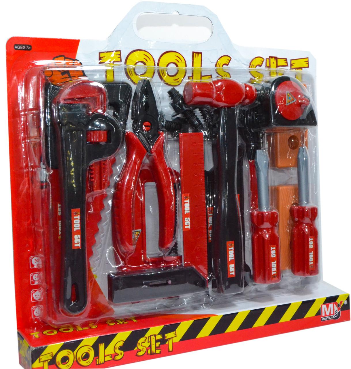 708A Инструменты Tools Set на картонке красный 35*34