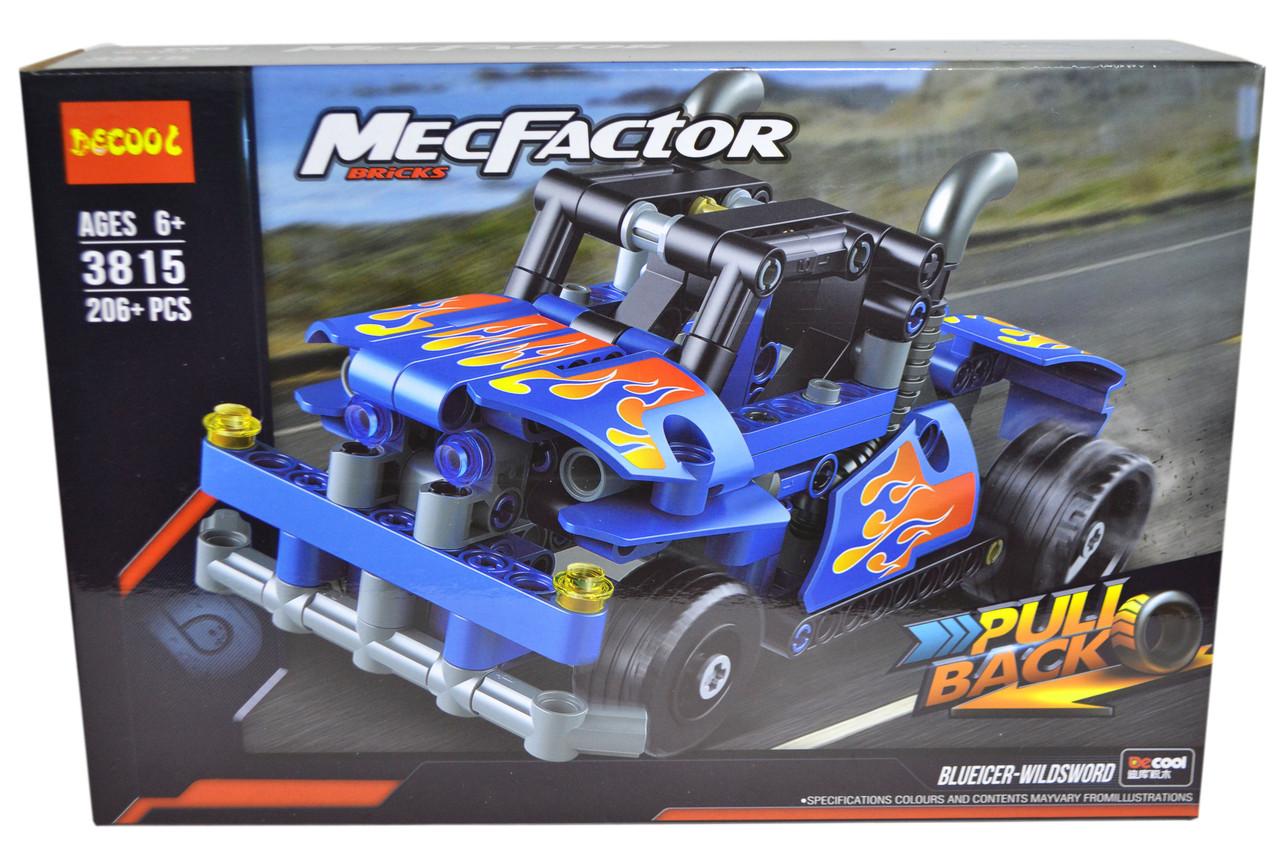 3815 Конструктор джип Mecfactor 206 деталей 29*20