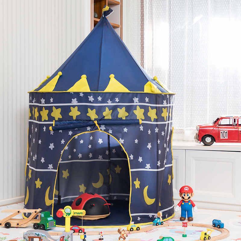 A999-222 Палатка домик Castle beautiful (синяя) 40*40