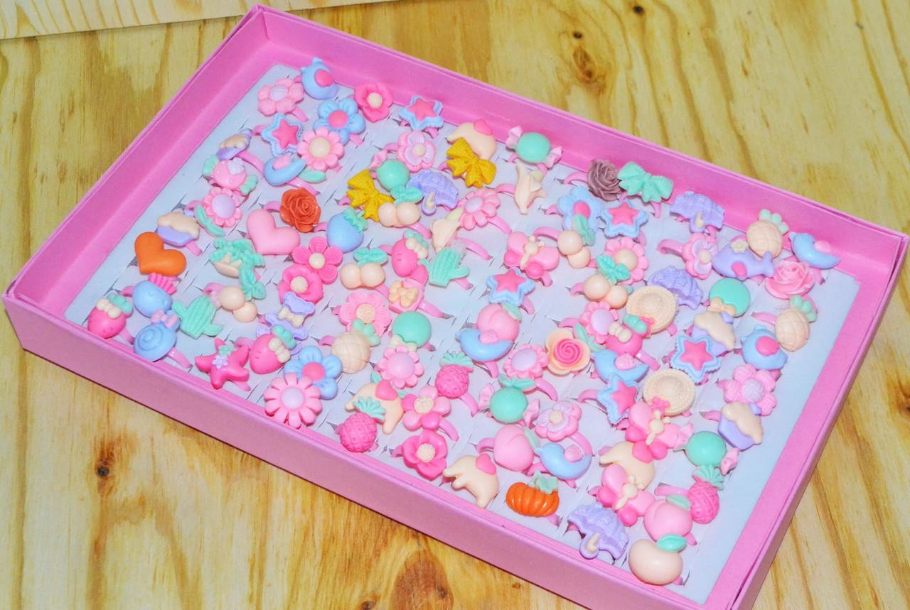 D17-038 Колечки матовые нежные  розовые 100 шт цена за уп. 29*18см