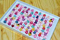 D17-039 Колечки глянцевые (фрукты, животные, цветы) 100 шт цена за уп. 29*19см, фото 1