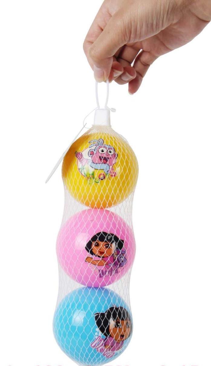 1760 Мячик гелевый Dora 3 шт в сетке