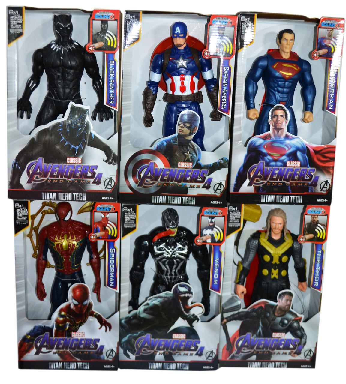 8818-23 Фигурки героев Avengers and game разные виды 31*18