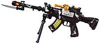8625 Автомат (звук/свет) военный с ножом 22*35