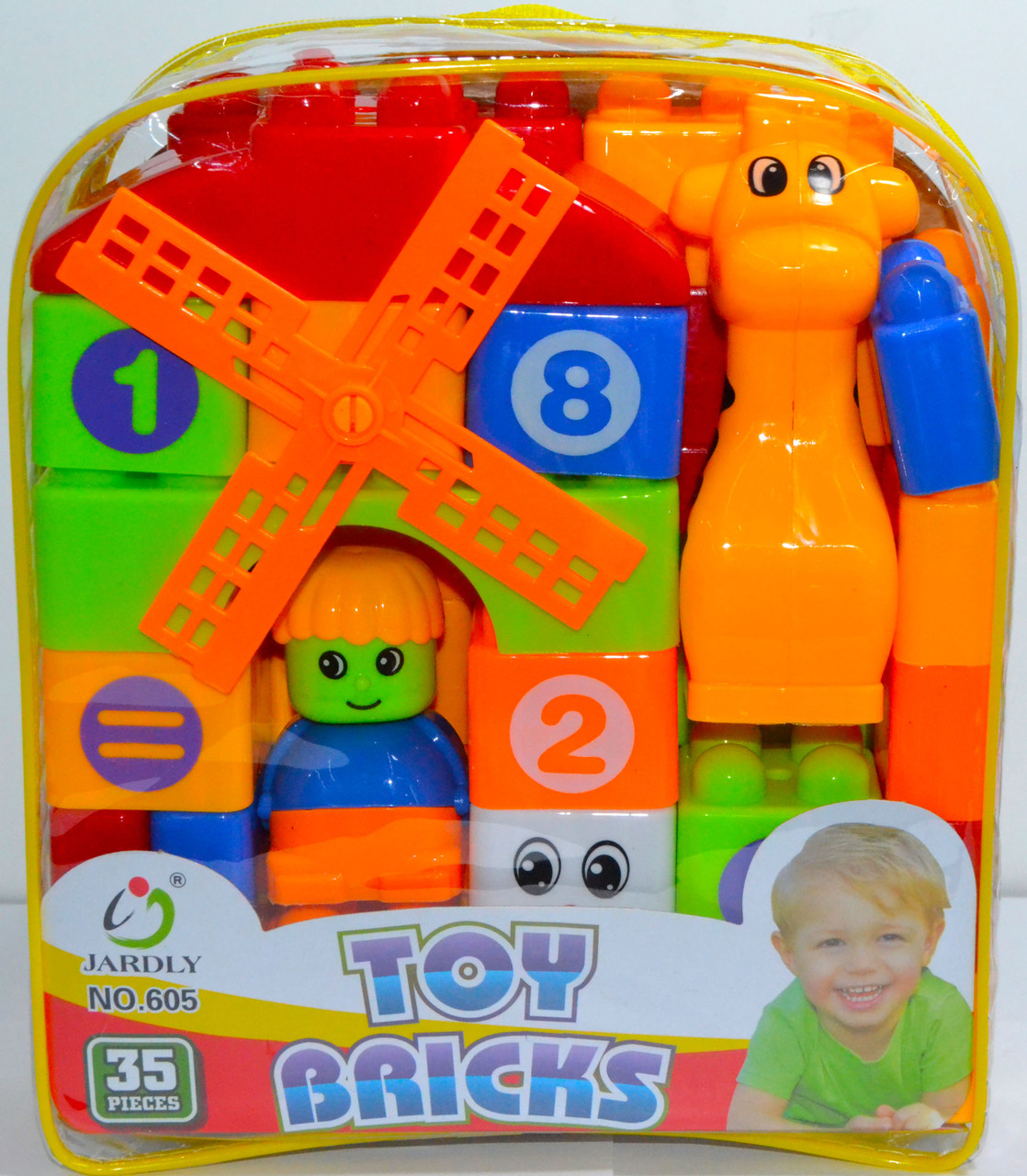 605 Конструктор Toy bricks мельница 35 аксес. 20*18см