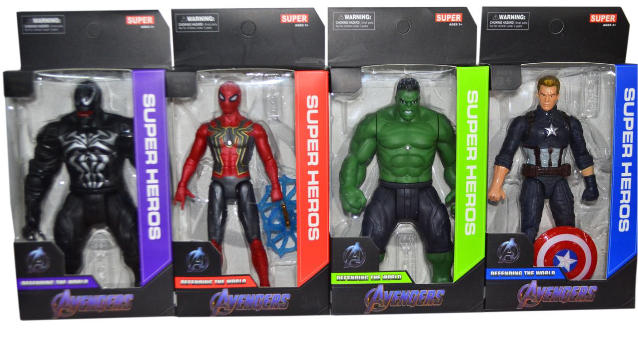 W15 Мстители Super Heroes марвел разные виды 24*12см