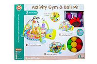 668-31 Развивающий коврик Activity gym & ball pit 3 в 1 черепашка + 30 шариков 57*45см