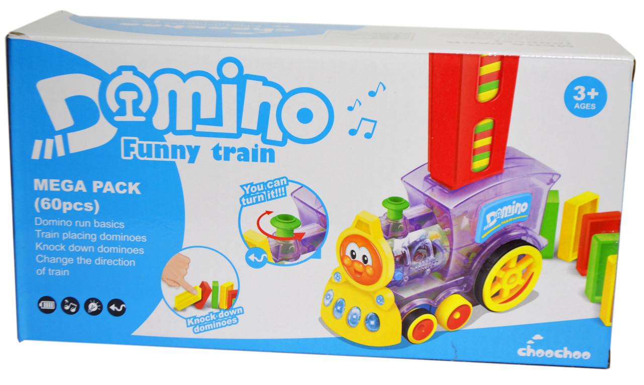HX151 Паровоз Домино Domino funny train 26*14см
