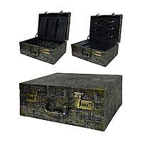 Чемодан/кейс для парикм. кожзам с двумя кодовыми замками 35 х 26 х 16 см (в ассорт.) №88754(2)