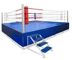 Ринг боксерский 6 х 6 м с помостом 7,65 х 7,65 х 1м