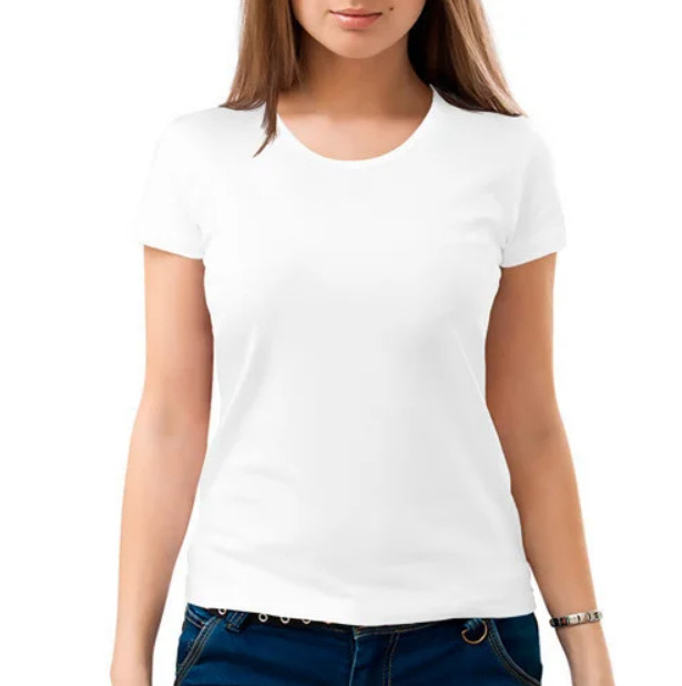 "Футболка для сублимации Сэндвич ""Style Woman"" цвет: белый, размер: 50(L)"