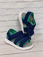 Детские летние сандалии UOVO сине-зеленый, 28