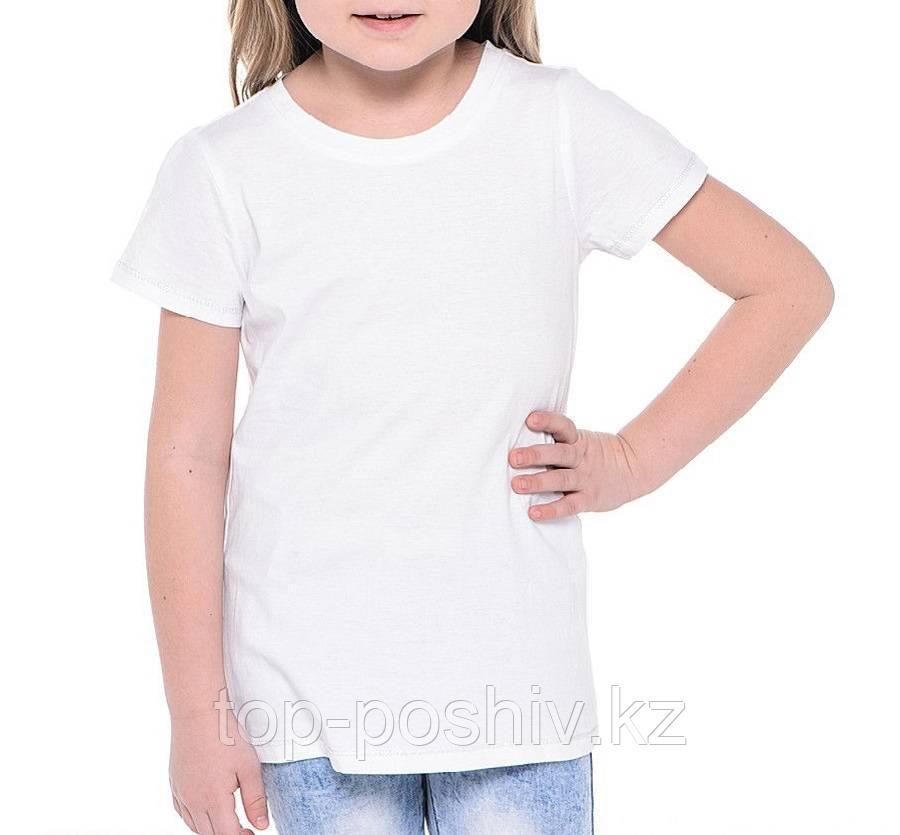 "Футболка для сублимации Сэндвич ""Fashion kid"" цвет: белый, размер: 28(116)"