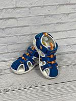 Летние сандалии UOVO 25, синий с оранжевым