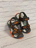 Повседневные сандалии UOVO 26, серый с оранжевым