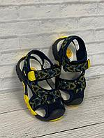 Повседневные сандалии UOVO 26, синий с жёлтым