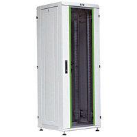 """IEK Шкаф сетевой 19"""", стеклянная передняя дверь серверный шкаф (LN35-18U66-G)"""