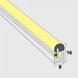 Гибкий неон сечение 8х16 мм. 220 в. плитка SMD 3528 холодный неон, флекс неон. Flex LED Neon  220 вольт., фото 2