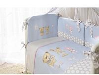 Комплект детского постельного белья PERINA 4 предмета ВЕНЕЦИЯ голубой