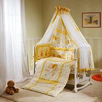 Комплект в кровать 7 предметов PERINA НИКА МИШКА НА ПОДУШКЕ Бежевый