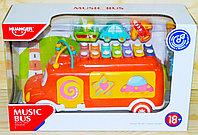 He8023 Music Bus Автобус сортер с ксилофоном 20*30см