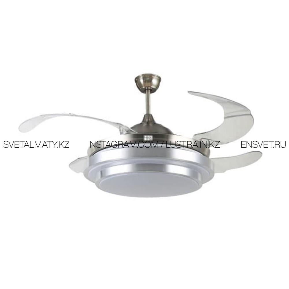 Люстра-Вентилятор ECOLUX ECO-032 AMMI-42 потолочная Хром