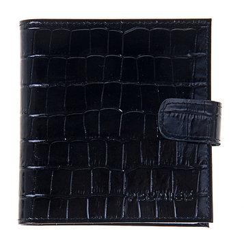 Визитница, 2 ряда, 16 листов, цвет чёрный