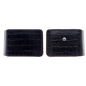 Зажим для купюр Z-2-83, отдел для монет, цвет коричневый