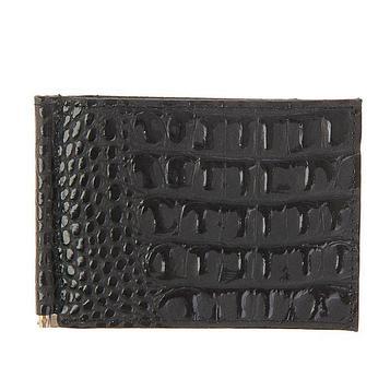 Зажим для купюр, 1 отдел для кредитных карт, цвет чёрный