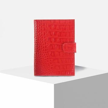 Обложка для автодокументов, отдел для купюр, цвет красный