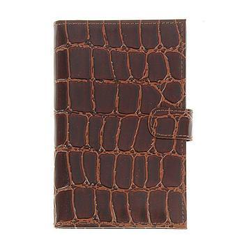 Портмоне мужское на кнопке, 1 отдел для купюр, для кредитных карт, цвет коричневый