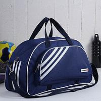 Сумка спортивная, отдел на молнии, наружный карман, цвет синий
