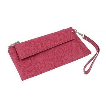 Портмоне женское, отдел для купюр, для монет, для кредитных карт, внешний карман, цвет розовый