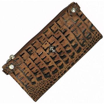 Кошелёк женский, 2 отдела для купюр, для монет, для кредитных карт, цвет коричневый