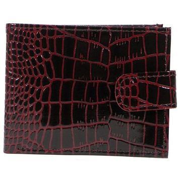 Портмоне женское 11,5х2х9, отделы для купюр, монет, кредитных карт, бордовый