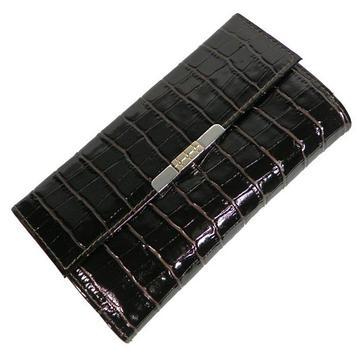 Портмоне женское, отдел для купюр, для монет, для кредитных карт, цвет тёмно-коричневый