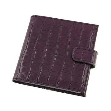 Визитница, 1 лист на 2 визтки, 48 визиток, цвет фиолетовый