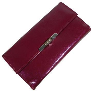 Портмоне женское, отдел для купюр, для монет, для кредитных карт, цвет розовый