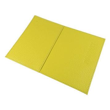 Обложка для паспорта с карманом, цвет жёлтый