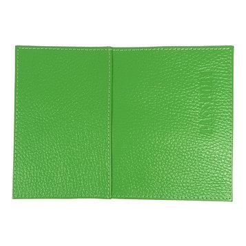 Обложка для паспорта с карманом , цвет зелёный