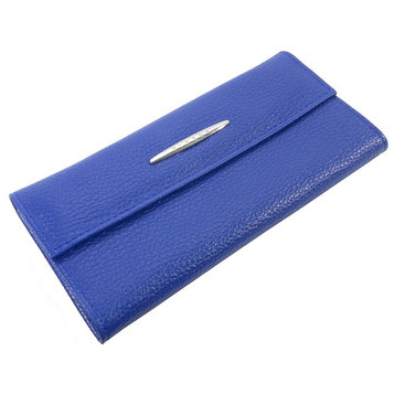 Кошелёк женский на кнопке, 2 отдела для купюр, для монет, для кредитных карт, цвет синий