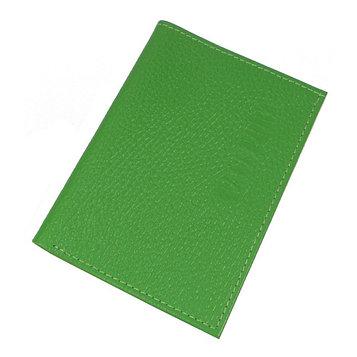 Обложка для паспорта, отдел для купюр, цвет зелёный