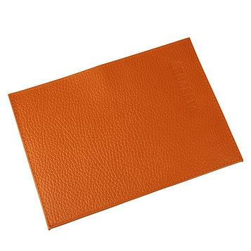 Обложка для паспорта, отдел для кредитных карт, цвет оранжевый