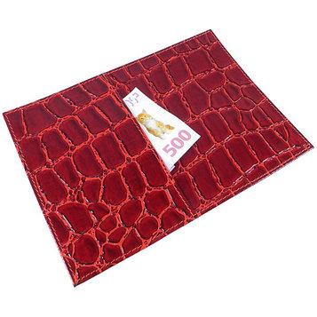 Обложка для паспорта с внешним карманом, цвет красный
