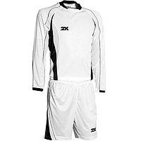 Комплект футбольной формы 2K Sport Forte длинный рукав, white/white/black, рост 140