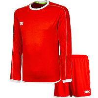 Комплект футбольной формы 2K Sport Siena длинный рукав, red/red/white, размер XXXL